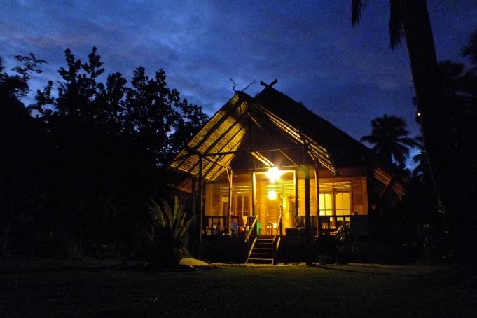Night falls over Awera